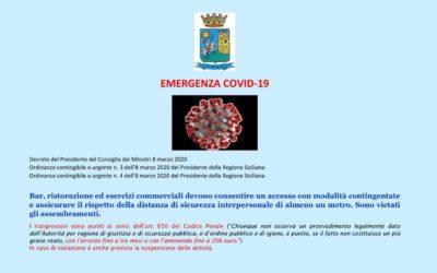 Ordinanze sindacali pubblici esercizi a Sciacca e tutta Italia